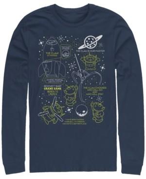 Disney Pixar Men's Toy Story Aliens Claw Master Map, Long Sleeve T-Shirt
