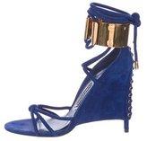 Tom Ford Suede Embellished Sandals
