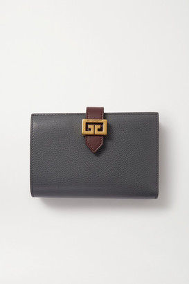 Givenchy Gv3 Medium Smooth And Textured-leather Wallet - Gray