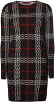 Black Check Knitted Tunic