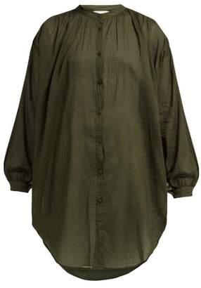 Skin - The Brea V-neck Cotton Kaftan - Womens - Khaki