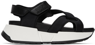 MM6 MAISON MARGIELA Black Multi Strap Sandals