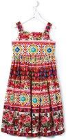 Dolce & Gabbana Carretto Con Rose dress - kids - Cotton - 8 yrs