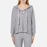 Wildfox Couture Women's Hutton Hooded Sweatshirt Heather Burnout