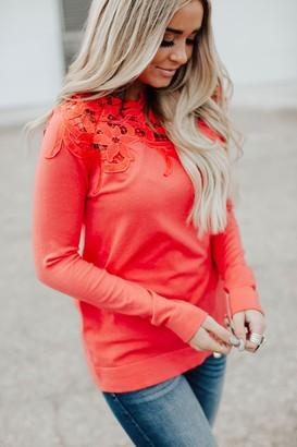Lace Shoulder Top - Poppy