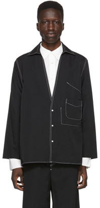 SASQUATCHfabrix. Black Oriental Work Shirt