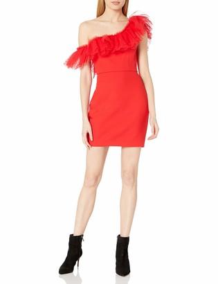 BCBGMAXAZRIA Women's One-Shoulder Ruffle Dress
