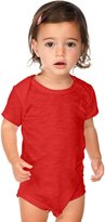 Kavio! Unisex Infants Slub Raw Edge Lap Shoulder Short Sleeve Onesie 12M