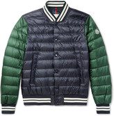 Moncler - Enrick Slim-fit Stripe-trimmed Quilted Shell Down Bomber Jacket