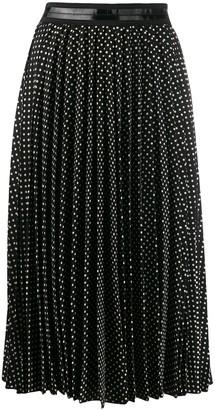 Coach Polka Dot Pleated Skirt