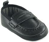 Luvable Friends Black Loafer - Infant