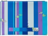 Emilio Pucci fish stripe print clutch