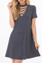 Others Follow Blue Striped Dress