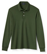 Classic Men's Long Sleeve Supima Interlock Polo Shirt-White