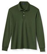 Classic Men's Tall Long Sleeve Supima Interlock Polo Shirt-White