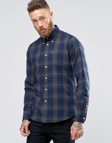 Barbour Shirt In Seth Check In Tailored Slim Fit In Forest