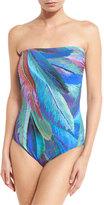 Gottex Macaw Bandeau One-Piece Swimsuit