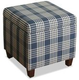 HomePop Anderson Storage Cube Ottoman in Navy