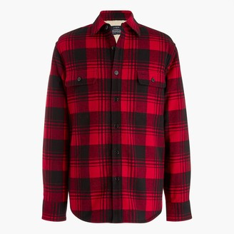 J.Crew Sherpa-lined flannel shirt-jacket