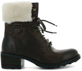 Palladium P L D M By Cabaratte BRG Leather Mix Ankle Boots with Faux Fur Lining
