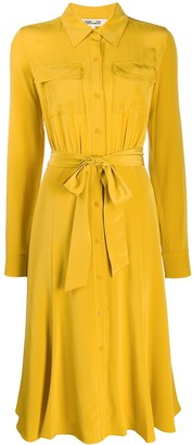 Diane von Furstenberg tie-waist shirt dress