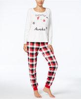 Family Pajamas Women's Buffalo Plaid Bearly Awake Pajama Set, Created for Macy's