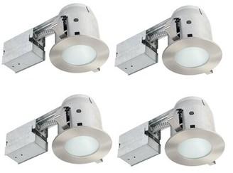 "Globe Electric Company IC Rated Bathroom Lighting 4"" Recessed Lighting Kit"