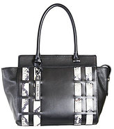 Via Spiga Iris Colorblocked Snake Tote