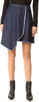 The Fifth Label Women's Front Row Asymmetircal Overlay Skirt
