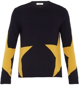Valentino Star-intarsia Wool And Cashmere-blend Sweater