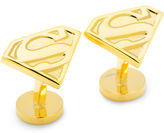 Asstd National Brand DC Comics Gold-Tone Superman Shield Cuff Links