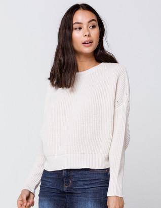 Rag Supply Drop Shoulder Womens Cream Sweater