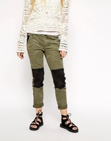 Free People Patch Twill Jeans