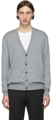 Maison Margiela Grey Elbow Patch Cardigan