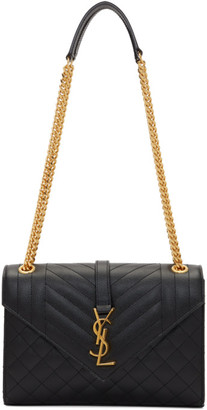 Saint Laurent Black Medium Envelope Bag