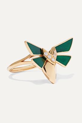 Stephen Webster Jitterbug 18-karat Gold, Diamond And Enamel Ring - 7