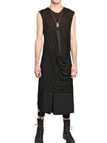 Tom Rebl Draped Long Modal Jersey T-Shirt