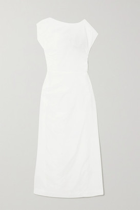 Georgia Alice Lily Gathered Cotton And Silk-blend Voile Maxi Dress - White