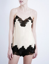 Nk Imode Morgan stretch-lace and silk-satin camisole