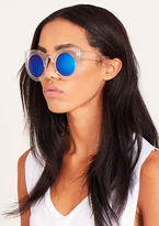 Missy Empire Zen Blue Tinted Clear Sunglasses