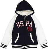 U.S. Polo Assn. Navy & White 'USPA 90' Sherpa-Lined Fleece Hoodie - Toddler & Boys