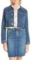 L'Agence Women's Zuma Raw Hem Crop Denim Jacket