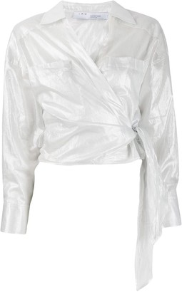 IRO long-sleeve wrap blouse