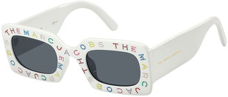 Marc Jacobs Multicolor Crystal Logo Rectangle Sunglasses