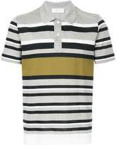 Cerruti multi-stripe polo shirt
