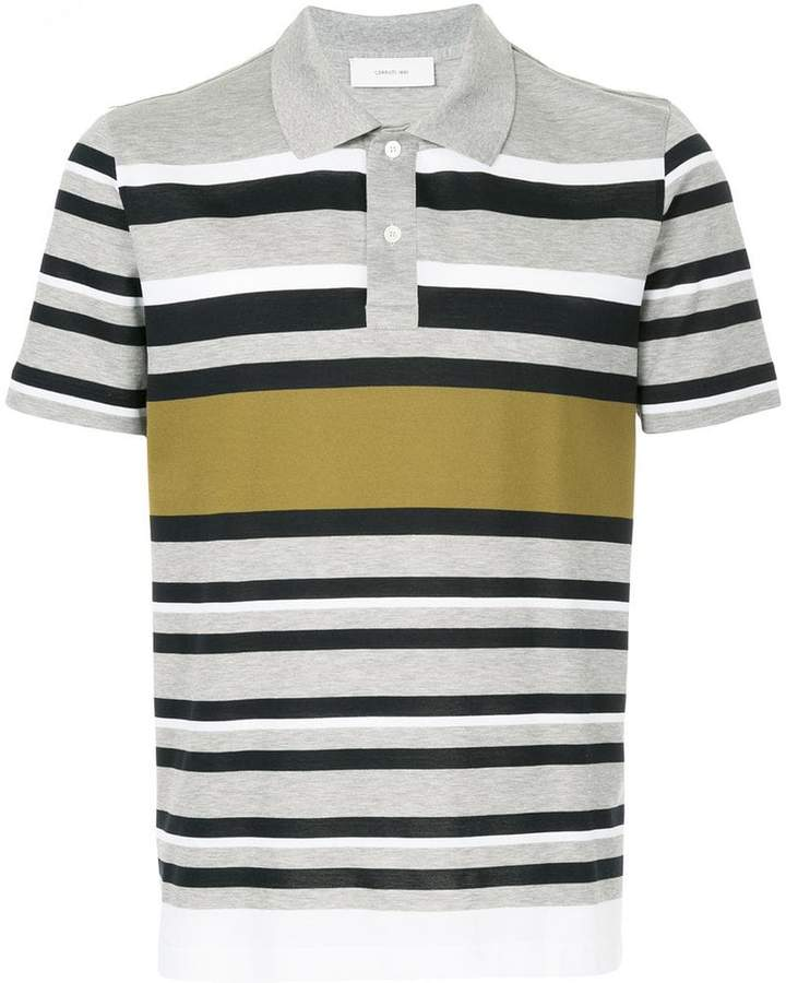 Cerruti multi-stripe polo shirt