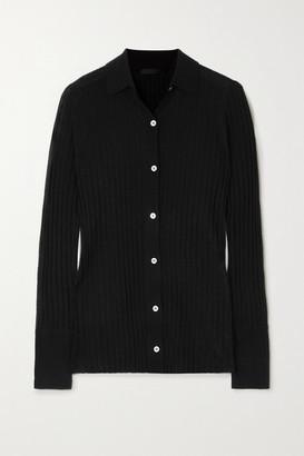 ATM Anthony Thomas Melillo Ribbed Wool Cardigan - Black