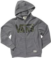 Vans Classic Zip Hoodie (Kid) - Heather/Camo-Small
