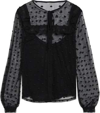 RED Valentino Embroidered Tulle Top