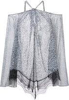 Derek Lam 10 Crosby Cold Shoulder Halter Blouse With Lace
